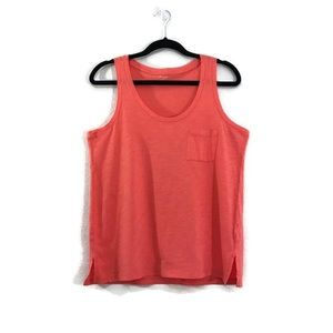 Madewell Pink Slub Knit Scoop Neck Tank Top